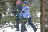 (FRISCO, Colo., March 29, 2005) Karen DeVine and Chris Hughes both from Chicago Ill. enjoy the...