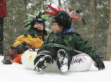 (FRISCO, Colo., March 29, 2005) L-R- Theo Montgomery,7 and his brother Nathan Montgomery,10, both...