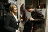 Etown hosts Helen and Nick Forster get ready backstage minutes before the show, which starred...