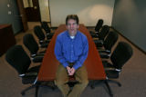 Sam Hernderson, Research Director of Accera, in conference room at headquarters Thursday morning...
