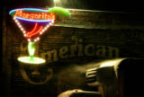 A Margarita sign stands out in the during the early morning snowfall at 5019 East Colfax Avenue on...