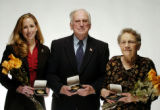 (DENVER Colo., March 22, 2005) Kerri Kay Snyder, Bill Hammond and Lois Bowles (left to right),...