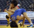 U.S. Nationals Champion Patricial Miranda, left, who trains in Colorado Springs., drives Clarissa...