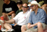 Norman, Sunday, May 4, 2003. OU athletic director Joe Castiglione and country singer Toby Keith...