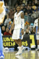 (Denver shot on 3/24/05) Denver Nuggets Carmelo Anthony laughs it up during a time-out in the...
