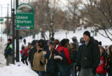 RTD resumed bus service on Friday December 22, 2006 after service was halted amidst a huge...