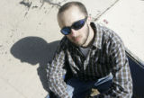Danny Ledonne (cq) sits in Cole park in Alamosa Tuesday afternoon, May 23, 2006. He  is the...