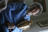 Helen Chenery holds the winning trophy of horse Riva Ridge's win of the Kentucky Derby . Helen...