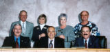 Above, Greeley City Council is pictured as follows: Front Row from left to right, Don Feldhaus,...