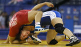 (INDIANAPOLIS, IN - May 23, 2004) --U.S. Nationals chamption at 48-kg, wrestler Patricia Miranda,...