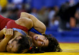 (INDIANAPOLIS, IN - May 23, 2004) --U.S. Nationals chamption at 48-kg, wrestler Patricia Miranda...