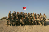 03/30/2005 Camp Udairi-Members of 1st platoon, 3/3 ACR, top row, from left, SGT Brad Bulechek, Lt....