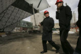 {Denver, Colorado.  March 31, 2005} CAN BE USED FOR DAILY.  Architect Daniel Libeskind,  left, (cq...