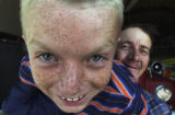 (ROMEO, Colo., May 24, 2004)  Tyler,11, and his dad Steve Sorensen, (cq Sorensen, from subject) in...