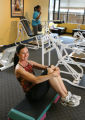 Personal trainer Eileen Cestra (cq) in her circuit-training gym, Healthy Woman Fitness, at 3030 E....
