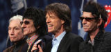 NY114 - ** FILE ** In a file photo the Rolling Stones, from left, Charlie Watts, Ron Wood, Mick...