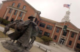 (ALAMOSA shot on 3/31/05)   This sculpture is in front of the original building on campus.  The...