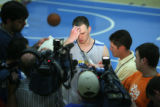 Nuggets draft candidate Gerry McNamara, from Syracuse University, takes the media's questions...