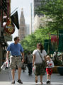 JPM558  Cliff Costello (cq), of Binghamton, N.Y., left, walks with his daughter Whitney Costello,...