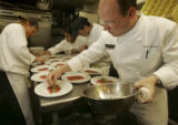 {Vail, Colorado.  April 7, 2005} Paul Ferzacca, (cq Paul Ferzacca), chef and owner of  La Tour...