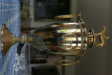 This is the winning trophy of horse Riva Ridge's win of the Kentucky Derby . Helen...