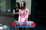(rt) Stevey Rae Trevino, cq, stands in the doorway as Tiffany Gonzales, cq, (11) holds her...