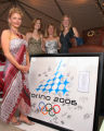 (Denver, Colo., June 2, 2006) Michelle Roark (left, freestyle moguls Olympian, ranked 2nd in the...
