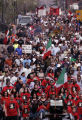 (DENVER, Colo., April 17, 2005) Thousands join as they  march the streets of Denver from Escuela...