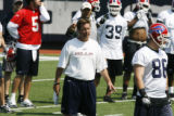 FOR SPORTS , ACTION OF  BUFFALO BILLS COVERAGE- Bills  Steve Fairchild at  Buffalo Bills  practice...