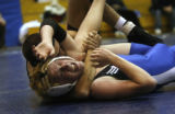 In the 119 weight Michael Balagna gets pinned by Josh Nueberger at Grandview HS in Aurora, Colo....