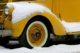 An old International pickup truck got a light dusting of snow, Friday morning, December 14, 2007,...