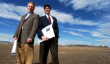 (BROOMFIELD, Colo., Apr. 4, 2005)  Tim Wiens (cq-lt) owns a prime piece of land he will be...