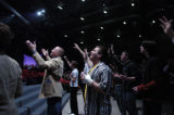 DM0486   during the first service Sunday at New Life Church since gunman Matthew Murray went on a...