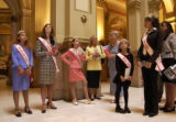 (DENVER, CO., April 4, 2005)  left to right wearing sashes:  Brittney Exline (cq), 13, Miss...