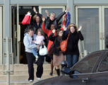 OMAHA  Shoppers file out of Von Maur with their hand up after as shooting at Westroad Mall...