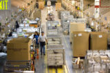 DM0619   About 500,000 packages and parcels a day are moving through the Denver Bulk Mail Center...