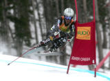 Thomas Lanning USA skis the slalom portion of the super combined in the Men's Super Combined race,...