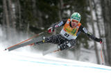 Andrew Weibrecht USA skis the slalom portion of the super combined in the Men's Super Combined...