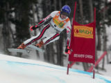 2nd place winner Jean- Baptiste Grange FRA  skis the downhill portion of the Men's Super Combined...