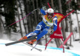 Christof Innerhofer ITA is in 13th  place after skiing  the downhill portion of the Men's Super...