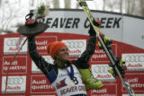 Steven Nyman USA , victory finishing   2nd for a Silver medal in the Downhill  race at the Charles...