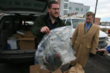 James Masters shows a bag of molded marijuana, returned to him by by the Fort Collins Police...