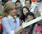 NYRD102 - Emma Watson, who plays Hermione Granger in the Harry Potter movies, signs autographs...