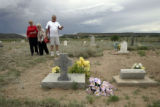 Claudia Romero (cq), left, and her husband Felix Romero (cq) took Felix's mother Joyce Romero (cq)...