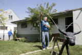 Richard White, a community activist in the neighborhood just south of Colfax and Havana, practices...