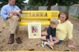 "On Thursday July 12, 2007 the Badger family gathered at ""Brianna's Playground"". left to..."