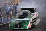 Funny Car Runner-up Ron Capps does his burnout on Sunday July 15, 2007 during the final day of the...