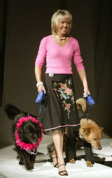 (Denver, Colo., April 8, 2005) Cindy Lee with Wags and Menace.  The 4th annual Mutts and Models...