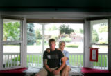 Portrait of Marine Cpl. Andy Kaplan (cq), 23, and his mother Gay Lowe-Kaplan (cq),  Colo., on...
