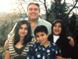 Family photo of Albert Romero (cq) and his daughter, Destiny(cq) ,13, son Albert, Jr.(cq),11, and...